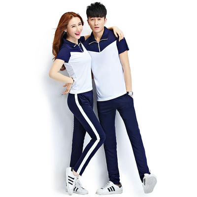 Men's summer casual suit thin section youth popular short-sleeved trousers sports casual couple two-piece men's tide