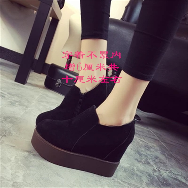 2016春秋新款韩版尖头浅口女鞋子黑色女士高跟鞋中跟粗跟百搭单鞋