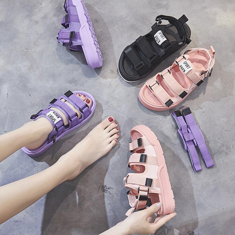 凉鞋女夏时尚学生百搭女鞋女潮优惠价30元销量129件