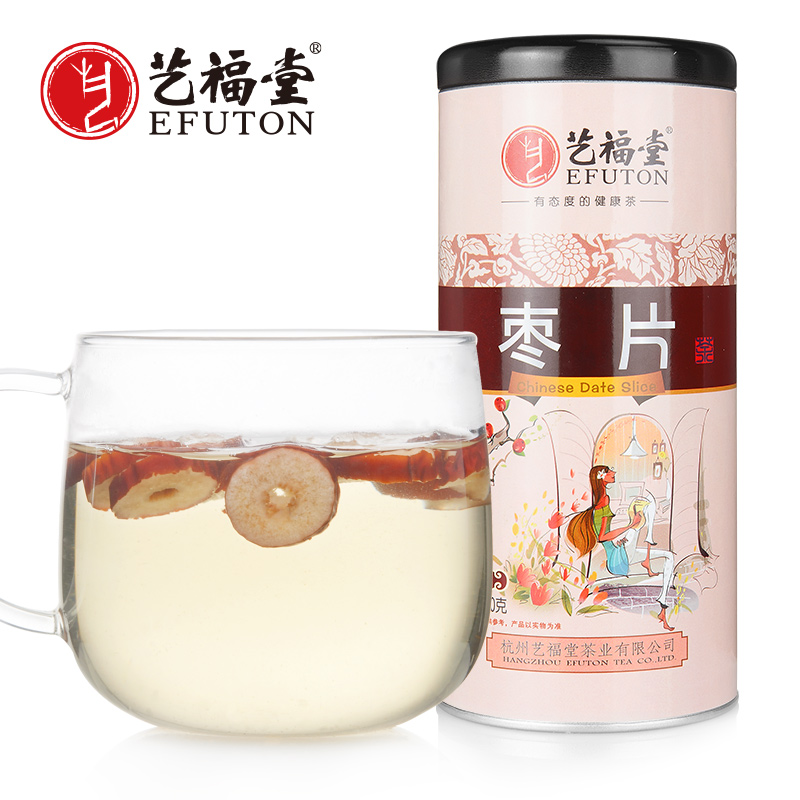 艺福堂花草茶 红枣干枣片 新疆原料大枣 无核 泡茶150g花茶
