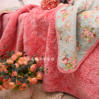 Winter plush bedding flannel cotton quilted quilt bed cover single piece spring and autumn air conditioning thin quilt thick quilted sheets