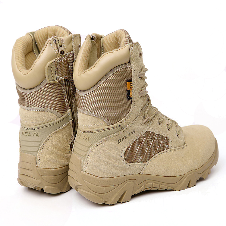 Men's Military Tactical Boots Leather Waterproof Police ... - photo #29