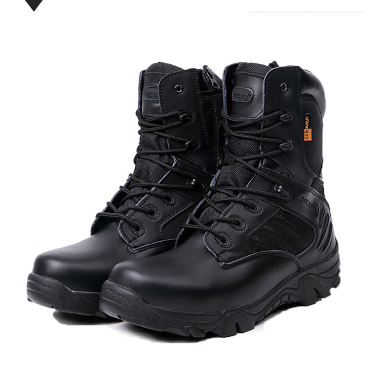 Men's Military Tactical Boots Leather Waterproof Police ... - photo #9