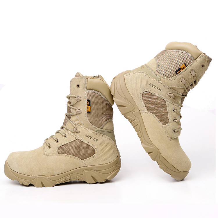 Men's Military Tactical Boots Leather Waterproof Police ... - photo #33