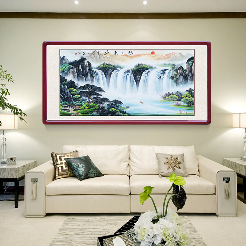 Lucky Feng Shui Backing Fortune Chinese Painting Landscape Painting Living  Room Decorative Painting Office Paintings Cornucopia