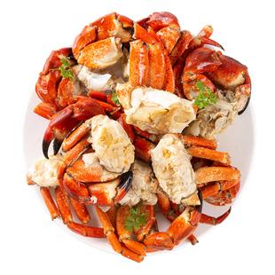 黄道蟹新鲜熟冻螃蟹足 碎蟹蟹脚 单独无黄无膏蟹块半蟹带蟹钳500g