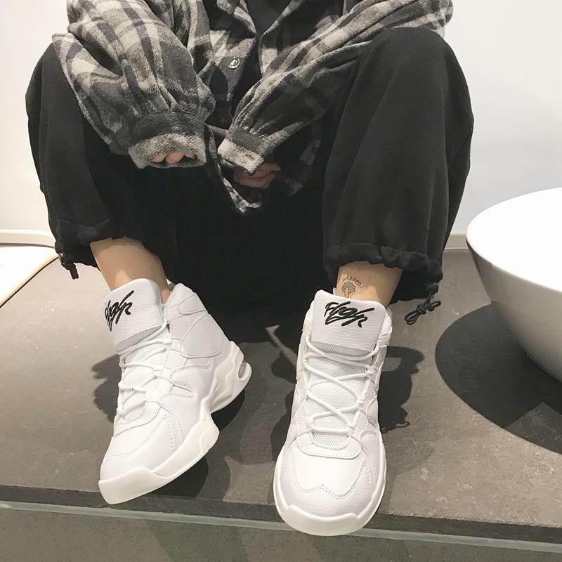 Литература и искусство мужской и женщины магазин зима хип-хоп обувь мужской обувь casual спортивной обуви корейская волна струиться обувь высокий обувной мужская обувь