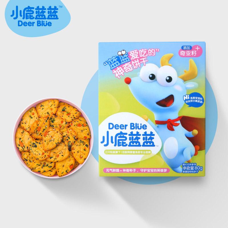 小鹿蓝蓝神奇饼干2盒宝宝零食辅食