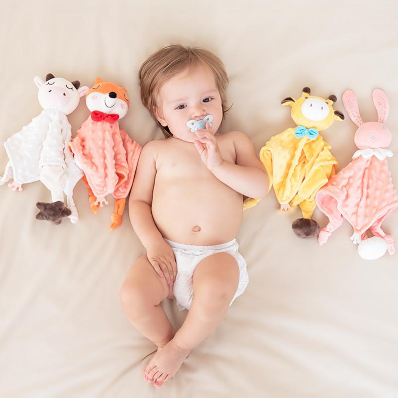 婴爱思博尔系列安抚巾宝宝可入口哄睡婴儿睡觉神器毛绒玩具玩偶
