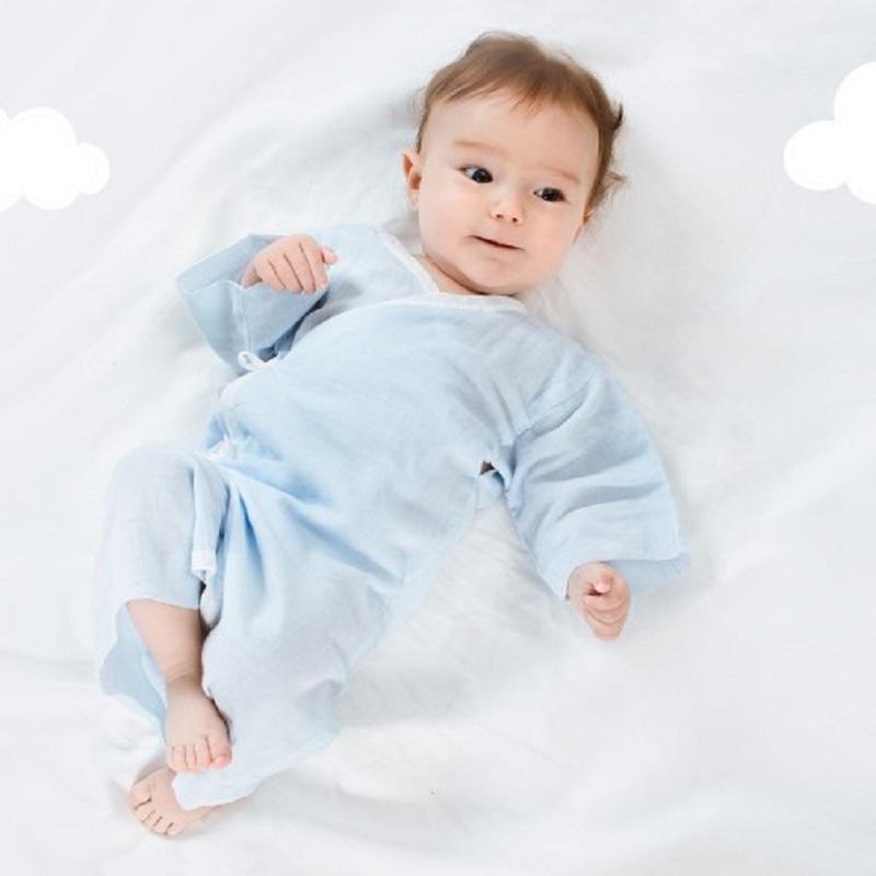 全棉时代新生婴儿纱布和尚服睡衣