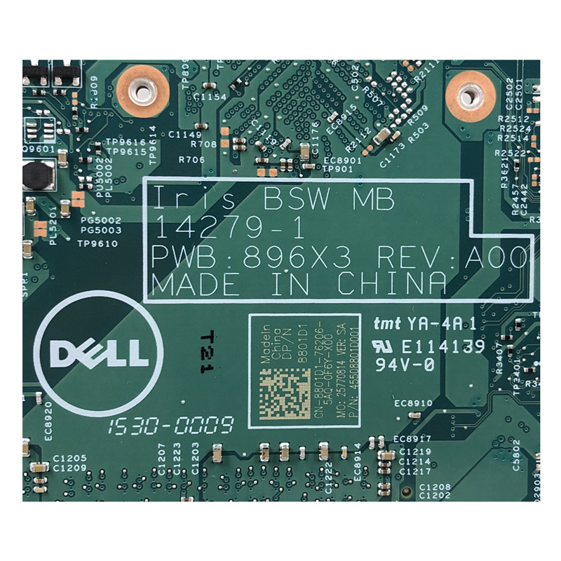 Dell Inspiron 15 3552 motherboard 3451 3452 Iris BSW MB 14279-1