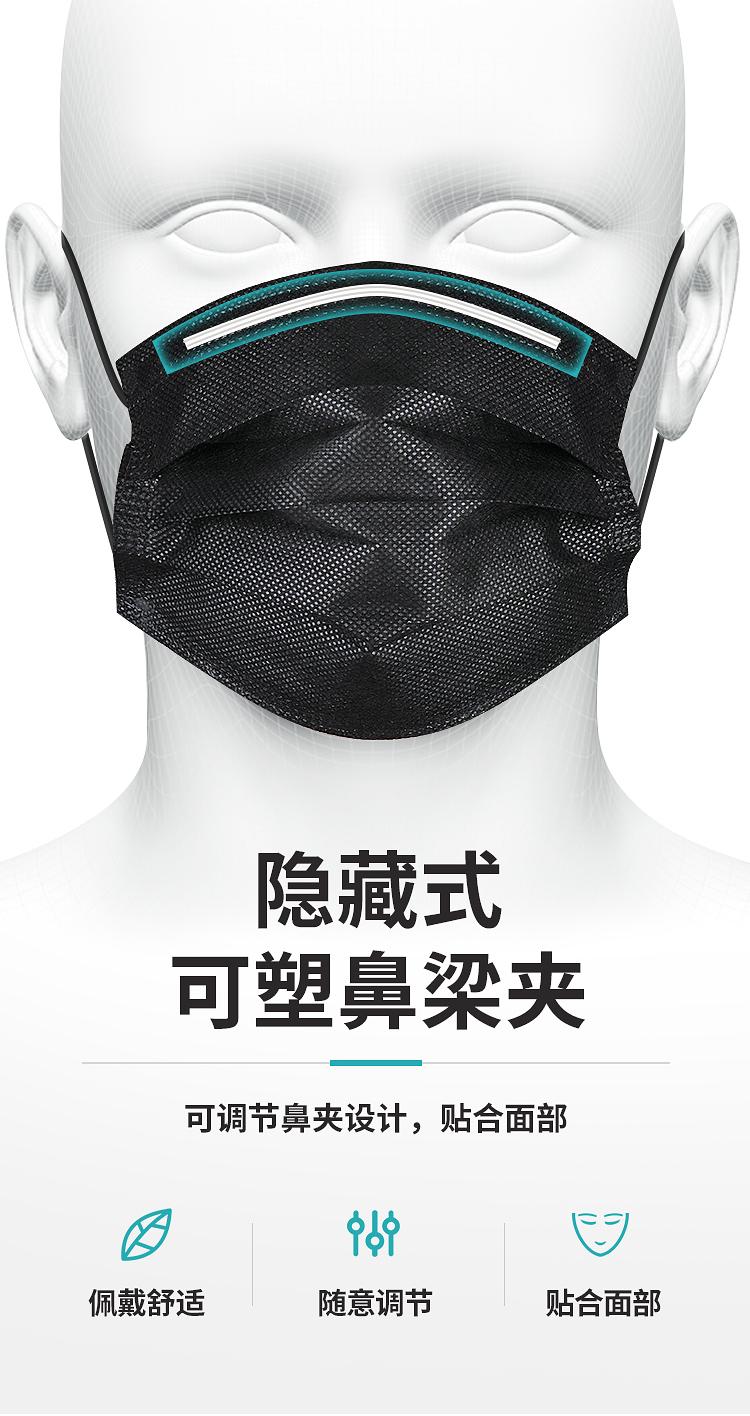 口罩一次性黑色男潮款女夏天薄款防晒透气时尚面罩只单独立包装详细照片