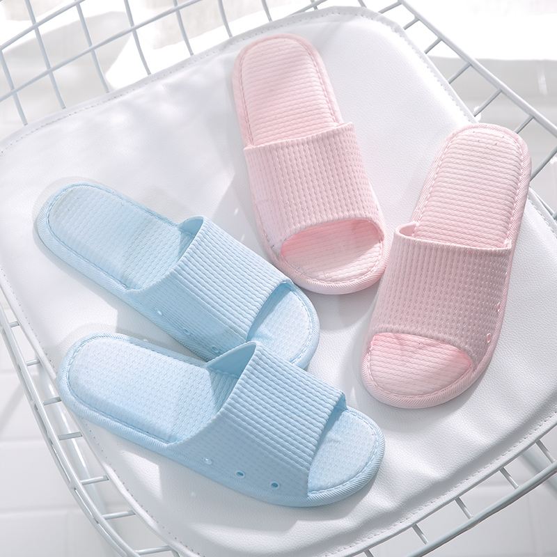 Bathroom slippers women summer indoor non-slip home soft sole simple Japanese couple home men's bath sandals