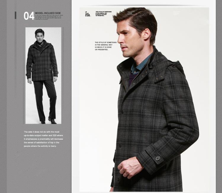 Giá trị hàng hóa tốt [chín thẻ] mùa thu và mùa đông kinh doanh mới giản dị áo len dày cổ áo len áo khoác nam