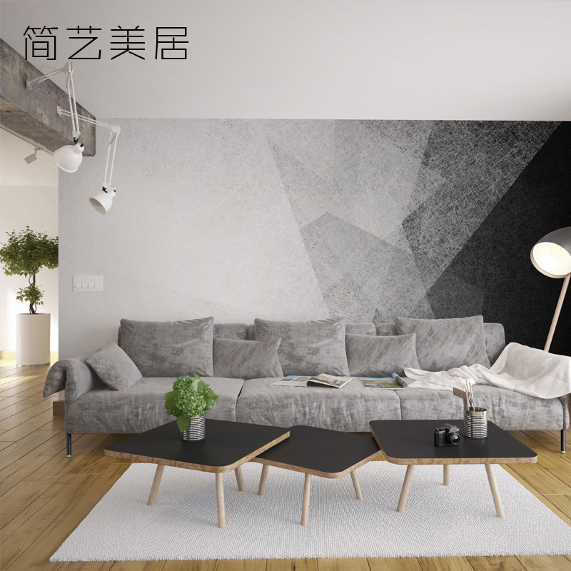 TV Background Wall Nordic Living Room Geometric Wallpaper Bedroom Creative Simple Modern Custom Mural Covering