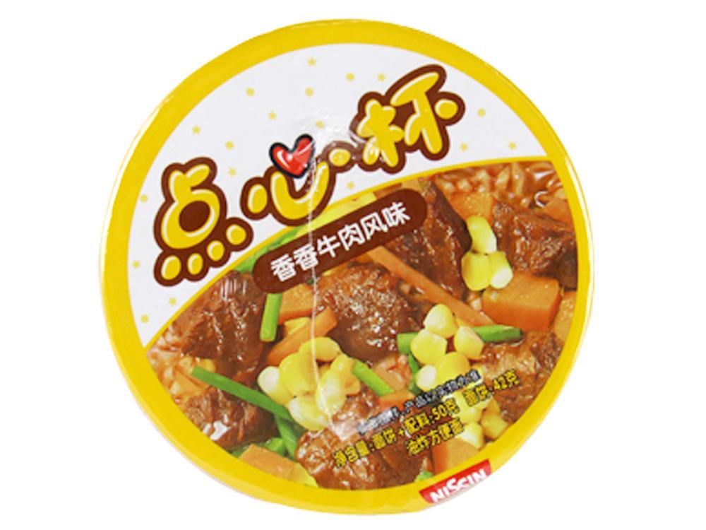 日清香香牛肉面点心杯50克