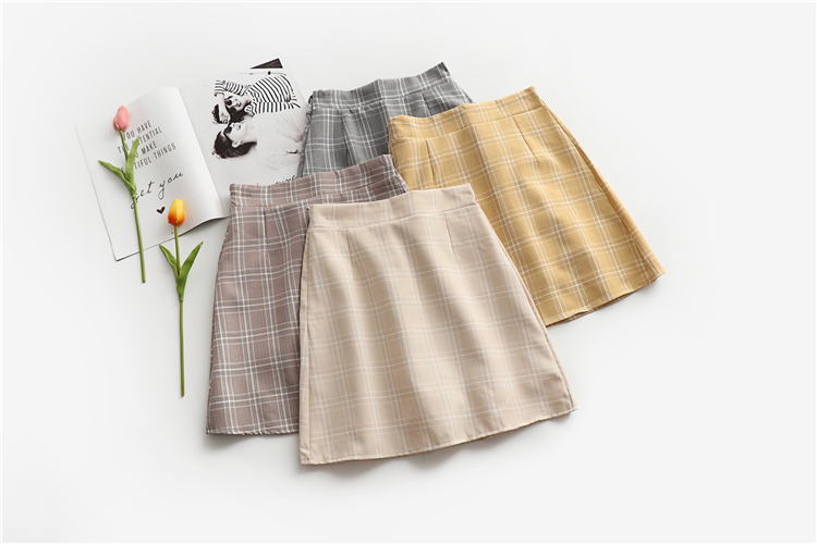 Leisure College Wind High Waist Skirt Women's Skirts Casual Ladies Kawaii Ulzzang Female Korean Vintage Clothing For Women 2