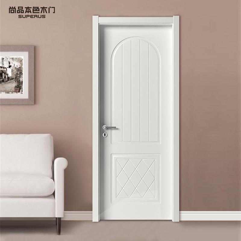 尚品本色木門 歐式室內門復合免漆實木門套裝門臥室門定制房門001