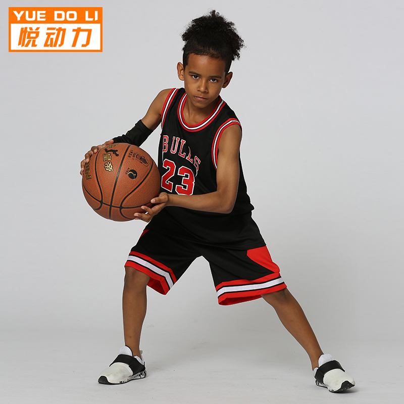 20ca22698bf Yue power spring and summer new breathable sweat baby basketball sportswear  suit 23 Jordan children s performance clothing custom
