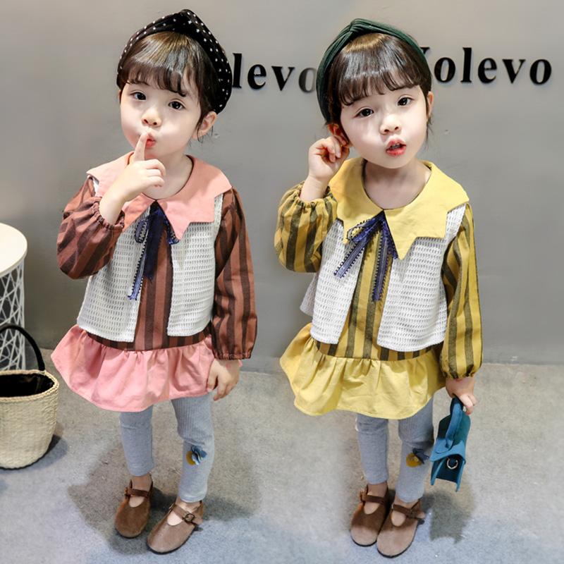 香港IT0春装三宝宝装春秋装2女件套洋气a春装1周岁春季女童童婴儿