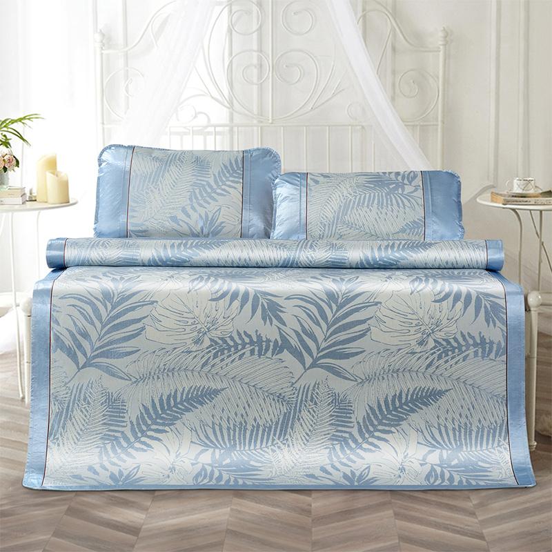 富安娜馨而乐凉席 可折叠1.8m1.5米床家用软席子夏季空调冰丝席