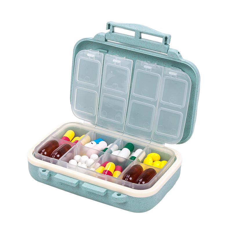 随身迷你便携式小药盒大容量安利药品日本药丸密封提醒分装薬盒子