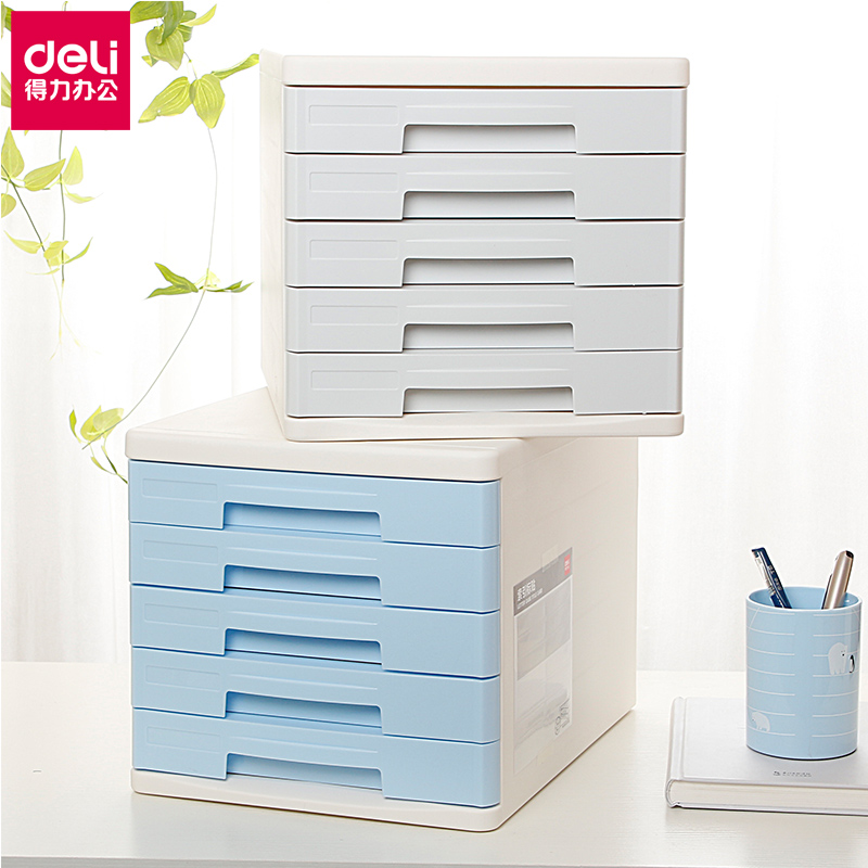 Effective Desktop File Cabinet 5 Layer A4 Plastic Drawer Without Lock  Office File Storage Cabinet Fashion