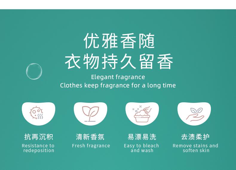 【4斤9.9!】蓝漂德国进口香氛洗衣液4