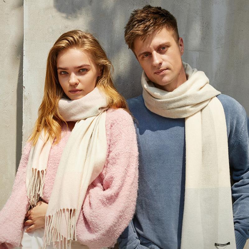 蕉下羊毛围巾女冬季男韩版百搭保暖空调披肩外搭斗篷日系羊绒围脖