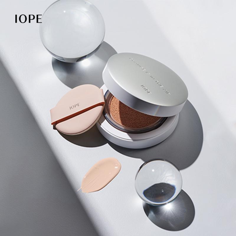 IOPE 艾诺碧 晶钻空气自然气垫粉底液 SPF50+/PA+++ 15g 赠圆形包
