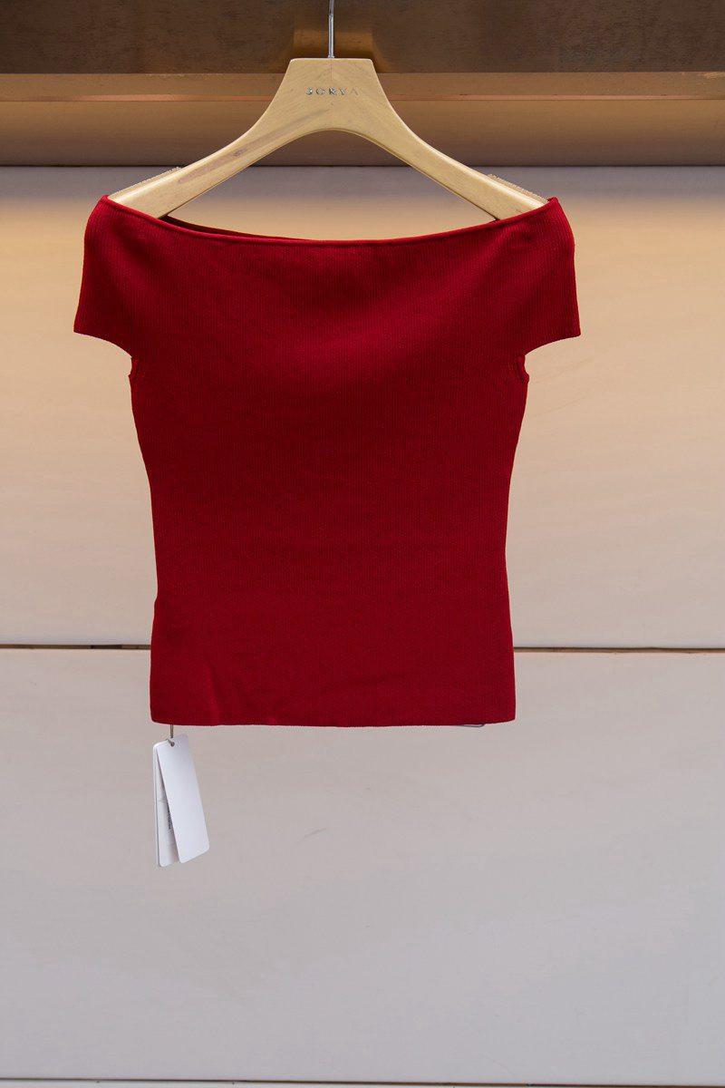 艾薇女装专柜国内代购2019夏季新款正品百搭针织衫上衣L7280604