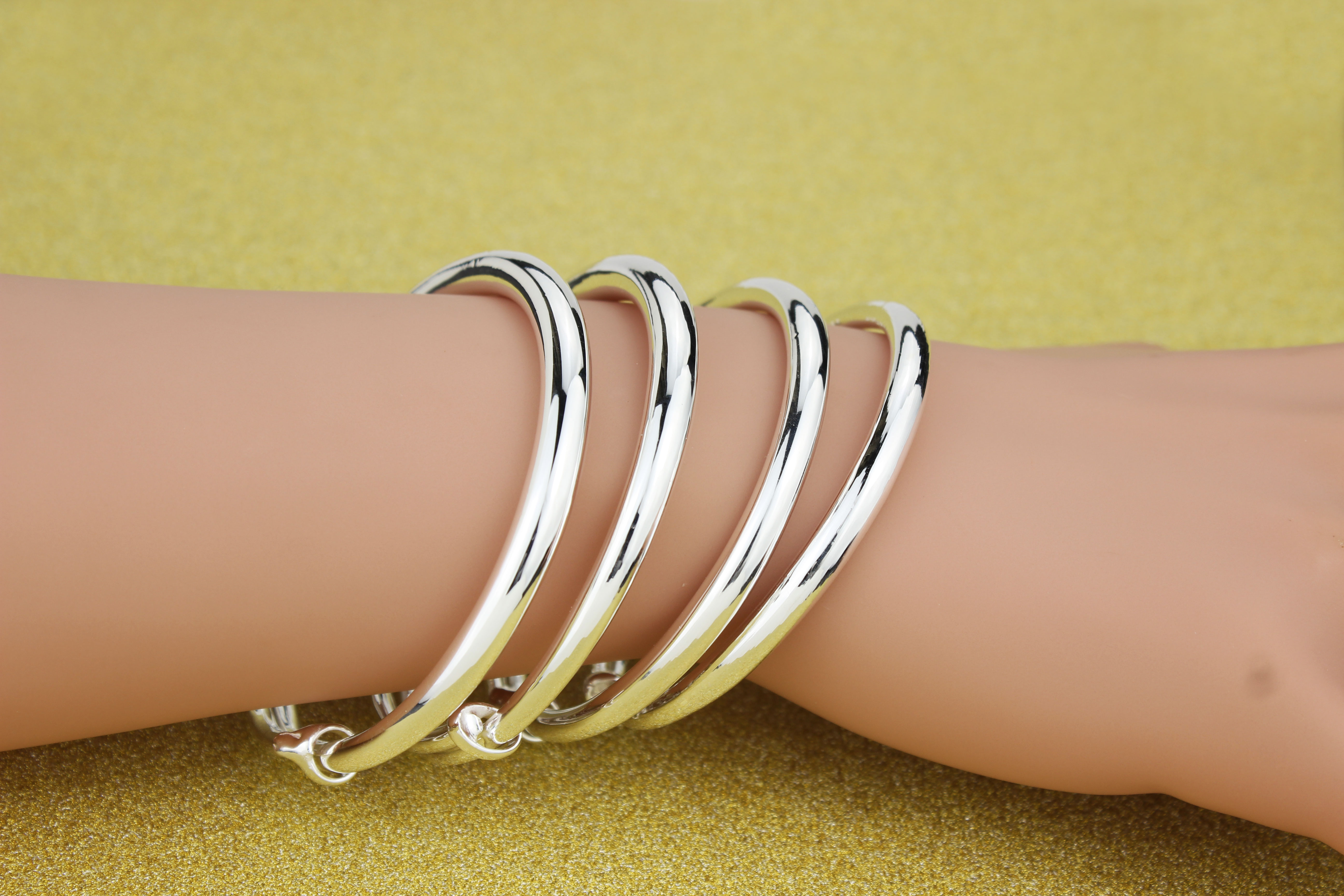 Usd 42 77 Silver Bracelet 999 Sterling Silver Men And Women Smooth