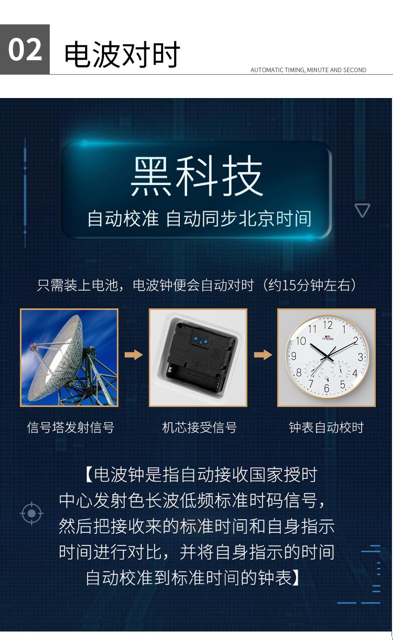 TIMESS 中国码电波表 温度湿度显示 自动对时分秒不差 图8