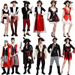 Хэллоуин для взрослых одежда пират джек капитан мужской и женщины размер карибский пират производительность карнавал танец может, цена 2392 руб