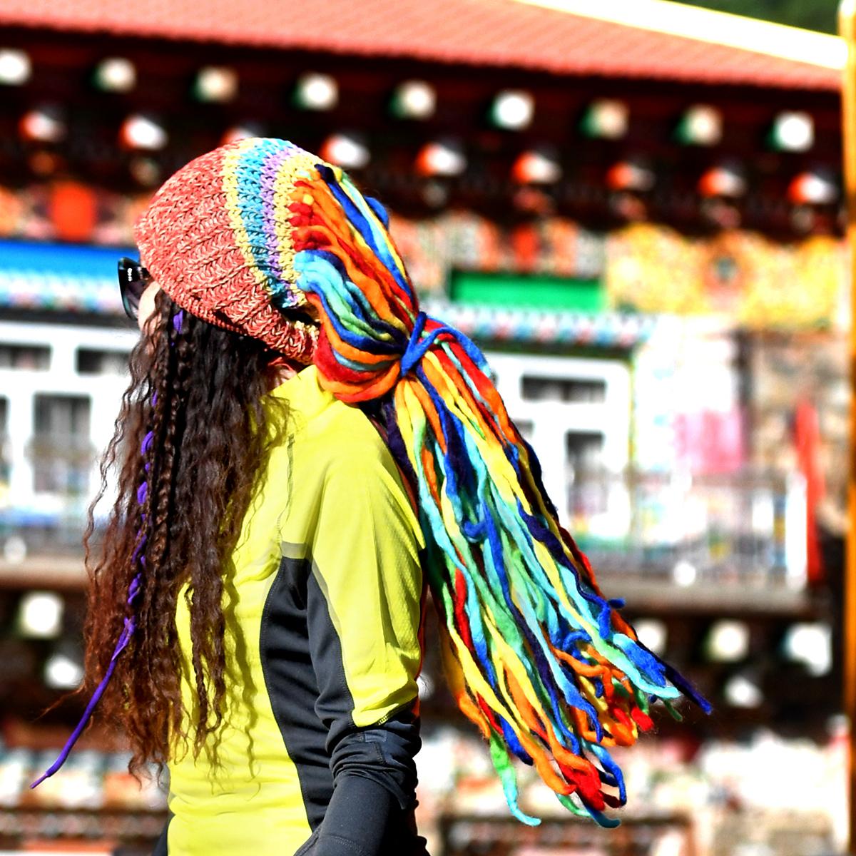 Пекин лес на открытом воздухе нигерия причал ваш ручной работы шерсть войлок мое призрак ветер вязаная шапка грязный коса крышка цвет коса крышка