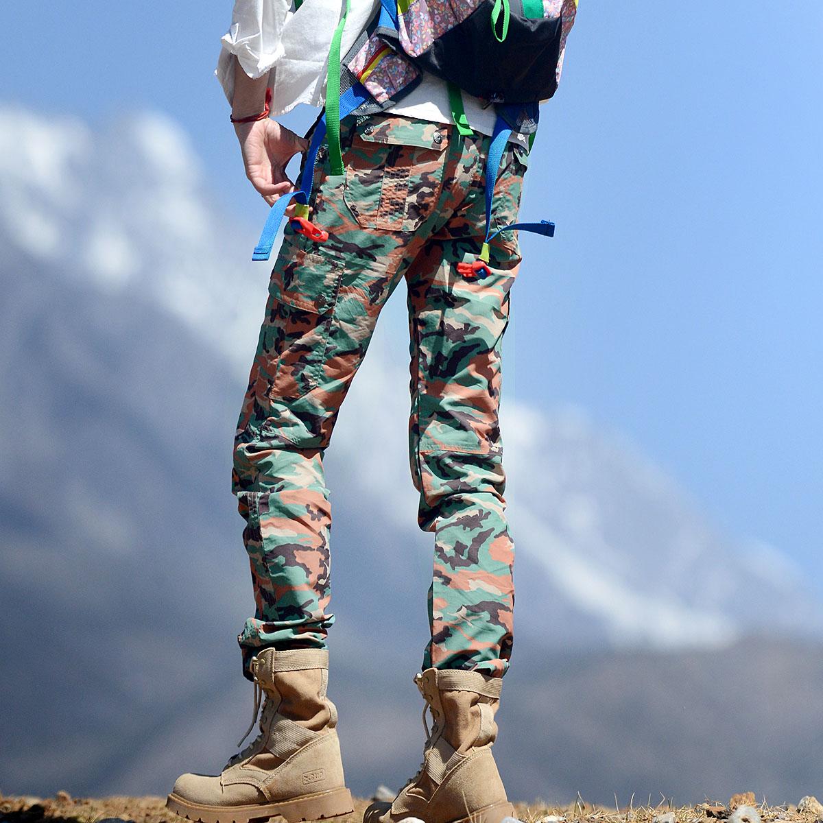 Пекин лес на открытом воздухе новый камуфляж быстросохнущие брюки защита от ультрафиолетовых лучей воздухопроницаемый тонкий брюки больше мешок женский