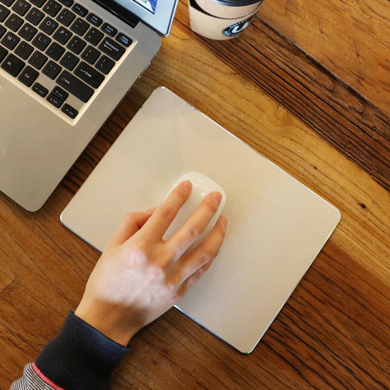 金属鼠标垫苹果铝合金小号硬质电脑小米男生黑色简约可爱女生ins
