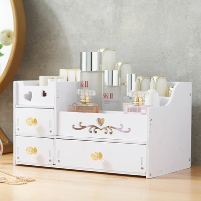 Large cosmetic storage box simple drawer type finishing box skin care product rack household dressing table makeup box