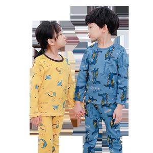 儿童保暖内衣套装加绒加厚男童睡衣冬季小女童秋衣秋裤宝宝保暖衣