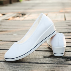 2018 new nurse shoes summer hollow female white beautician breathable flat work cloth shoes small white shoes wedge