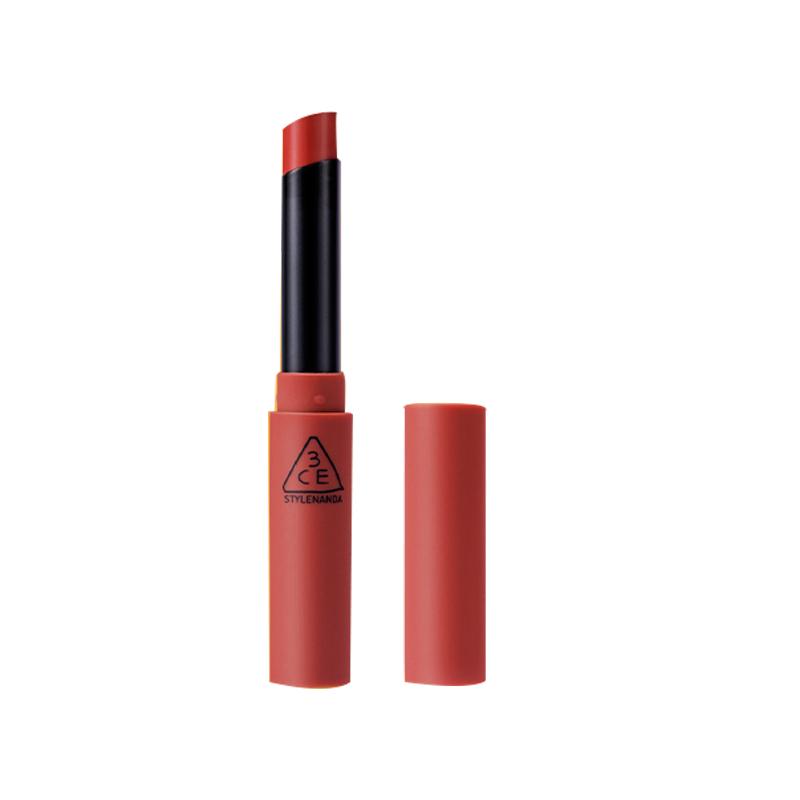 【双11加购】 3CE细管唇膏 哑光丝绒雾面烟管口红plain铁锈红