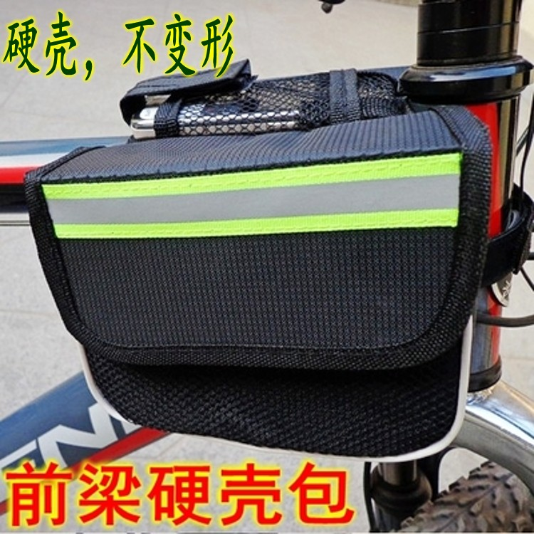 Bicycle mobile phone package front package on the tube package saddle charter car tube bag mountain bike bike bike bag rain-proof front beam bag
