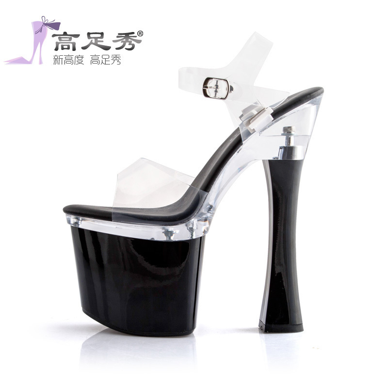 Hate day high-heeled sexy nightclub 19cm thick with sandals female  waterproof Model T Taiwan b5ac95be1f42