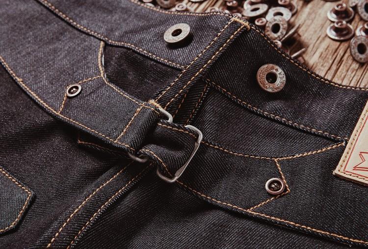 红风巴黎扣工装裤復刻宽鬆直筒赤耳牛仔裤详细照片