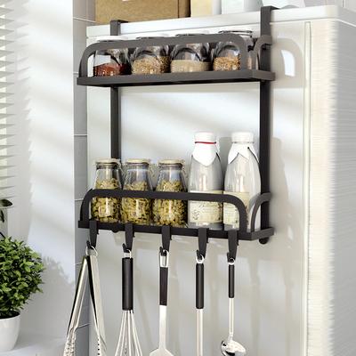 冰箱置物架厨房用品冰柜侧面挂架多功能家用侧壁带挂钩防锈收纳架