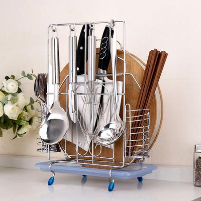 不锈钢菜刀架案板砧板架子刀座厨房置物架用品筷子勺子刀具收纳架