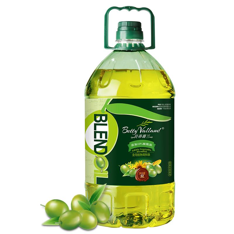 贝蒂薇兰10%橄榄油食用油非转基因色拉油调和油5L
