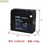 Protection God Fuhua lead-acid battery 6-GFM--18 fire lift 12V18AH dedicated for lead-acid UPS power supply