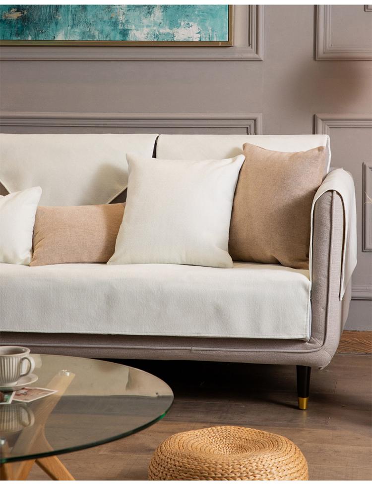 北欧简约沙发垫四季通用防滑盖布高檔实木沙发坐垫靠背扶手套罩巾详细照片