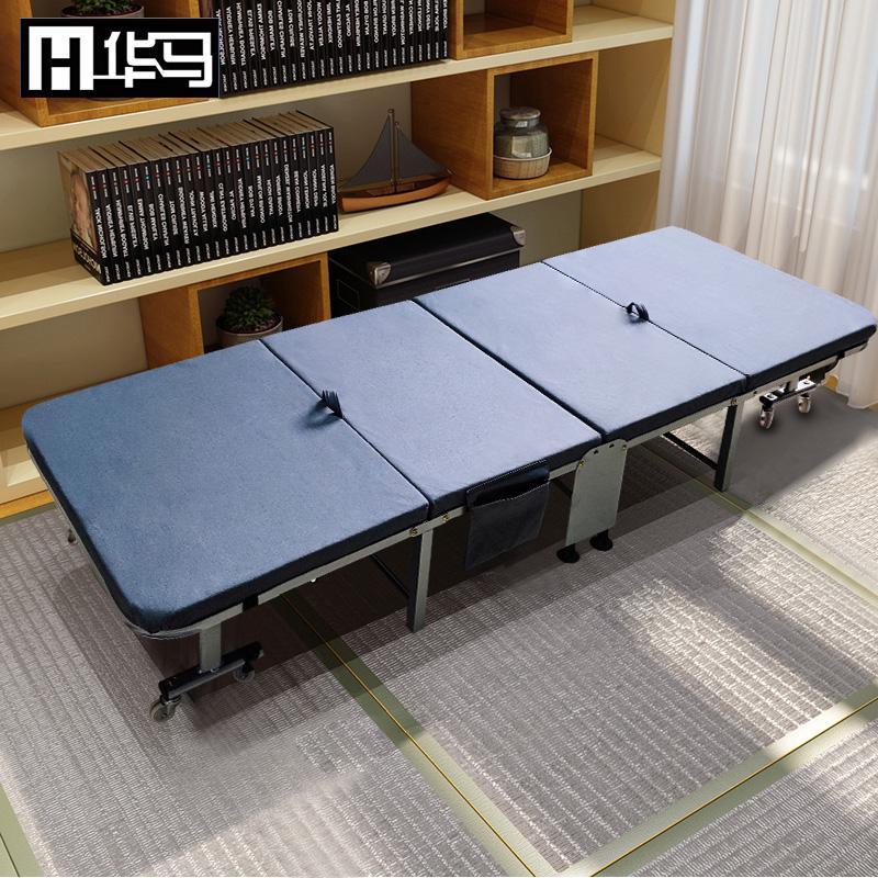 科技布华马办公室午休折叠床单人午睡神器四折简易便携家用行军床